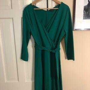 Lands End knit faux wrap dress